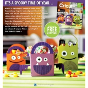 Cricut Magazine October 6th 2011 Item RSCRIOCT11